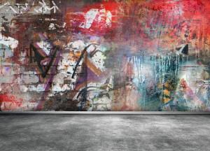 graffiti na stěně