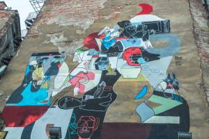 Panelové domy zdobí graffiti