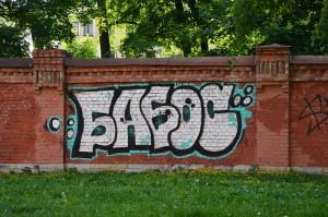 Zámecká zeď - graffiti