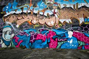graffiti na zídce