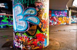 graffiti v podchodech