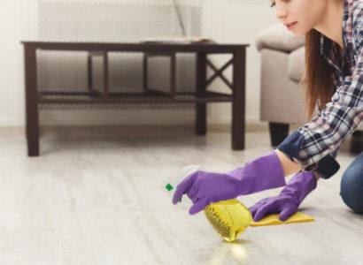 Čištění podlah po stavbě